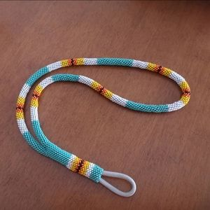 Beaded Lanyard Keyring
